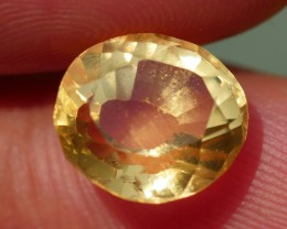 3.30 CRT FACETED GOLDEN YELLOW CITRINE-