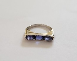Iolite 925 Sterling silver ring #092