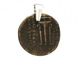 Original Ancient Greek Silver Coin Pendant 300-330BC