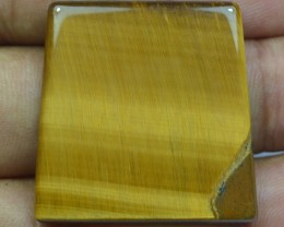 29.90 Ct  TIGERS EYE UNTREATED NATURAL BEAUTIFUL CABOCHON X28-84
