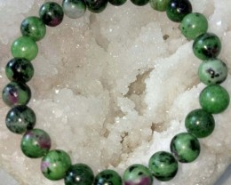 African Ruby Zoisite Natural Stone 8 MM bracelet