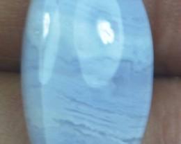 10.05 CT BLUE LACE AGATE  BEAUTIFUL NATURAL CABOCHON x17-174