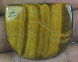 46.60 Ct  TIGERS EYE UNTREATED NATURAL BEAUTIFUL CABOCHON X28-101