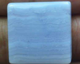32.60 CT BLUE LACE AGATE  BEAUTIFUL NATURAL CABOCHON x17-22