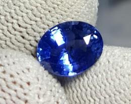 CERTIFIED 2.06 CTS NATURAL BEAUTIFUL CORNFLOWER BLUE SAPPHIRE CEYLON SRI LA