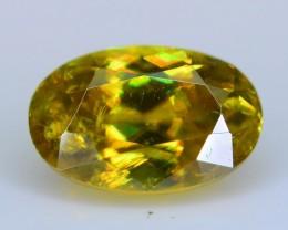 Rare AAA Fire 2.06 ct Malayaite Sphene Bright Yellow Badakhshan Sku-19