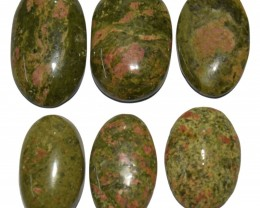 213.75  CT UNAKITE GEMSTONE WHOLESALE LOT (NATURAL+UNTREATED)