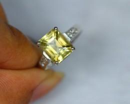 16.72ct Sterling Silver 925 Natural Quartz Ring Sz 7 V1888