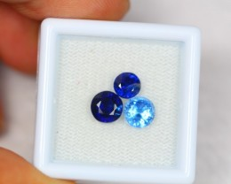 2.80ct Natural Blue Kyanite Round Cut Mix Size Lot V1891