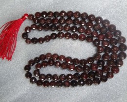 Faceted Garnet  Stone necklace BEADS 8mm