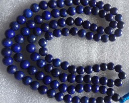 Natural Lapis Lazuli stone necklace BEADS 8 mm Best Quality