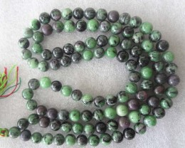 African  Zoisite necklace  8mm