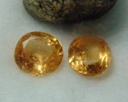 Grossular garnet color yellow browns 2 pcs  OVAL13.15  cts