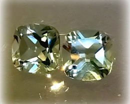 Stunning Green Amethyst Pair  (Prasiolite) - NO RESERVE AUCTION
