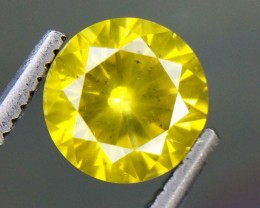 1.31 Crt Natural  Yellow Daimond Beautifulest Faceted Gemstone (DY 01)