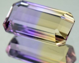 3.32 Cts Natural Bi Color Ametrine Octagon Cut Bolivian Gem