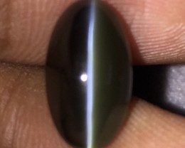 5.23 CT GIA CERTIFIED TOP QUALITY ONE OF A KIND RARE CAT'S EYE ALEXANDRITE