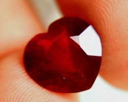 Gorgeous & Well cut Ruby Heart - 6.65cts Perfect for Jewellery