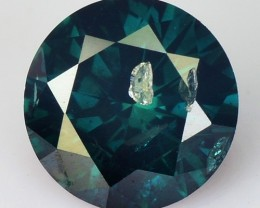 0.26 Cts Natural Greenish Blue Diamond Round Africa