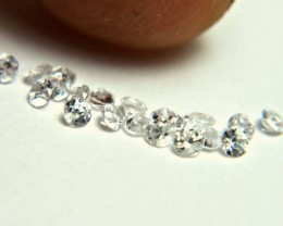 1.0 Tcw. White Southeast Asian VS Zircons 2.0mm - Gorgeous