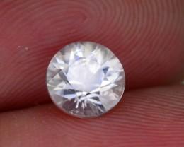 Gil Certified Diamond Like Brilliance 1.40 ct White Zircon Cambodia SKU.2