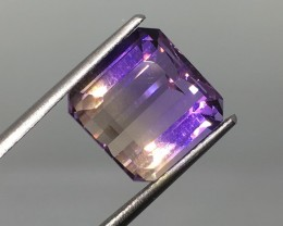 7.24 Carat VVS Ametrine Purple - Stunning Brazilian Quality !