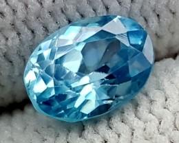 1.45CT BLUE ZIRCON BEST QUALITY GEMSTONE IGC487