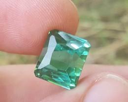 Certified  10.94 carats Transparent Bluish Green colour Tourmaline Gemstone