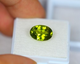 4.22Ct Green Peridot Oval Cut Lot Z53