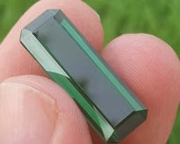 Certified 17.87  carats Transparent Green colour Tourmaline Gemstone