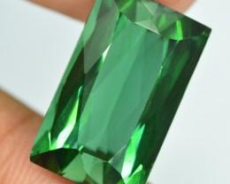Certified 8.55  carats Transparent Green colour Tourmaline Gemstone
