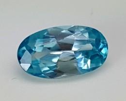 2.20Crt Blue Zircon Best Grade Gemstones JI07