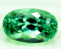 No Reserve - 15.15 carats  Lush Green Spodueme Gemstone From Afghanistan