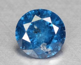 0.23 Cts Natural Titanium Blue Diamond Round Africa