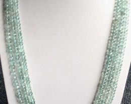 410 Crt Natural Aquamarine Beads Necklace