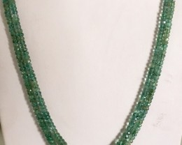 130 Crt Natural Emerald Beads Necklace