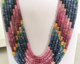 680 Crt Natural Multi-Stone Beads Necklace