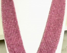 600 Crt Natural Pink Sapphire Beads Necklace