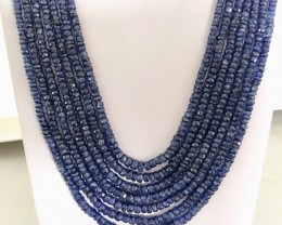645 Crt Natural Sapphire Beads Necklace