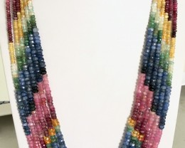 550 Crt Natural Multi_Stone Beads Necklace