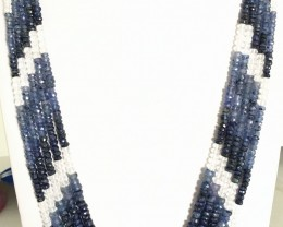 405 Crt Natural Shaded Sapphire Beads Necklace