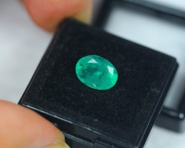 2.29ct Natural Zambia Green Emerald Oval Cut Lot V1917