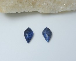11ct African Sodalite Cabochon Pair (18080612)