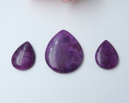 38ct African Purple Stone Cabochons (18080614)