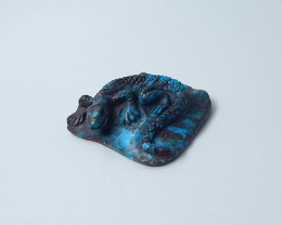 142ct Turquoise Lizard Carving (18080617)