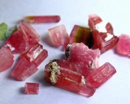 43 Ct Unheated ~ Natural  Superb Pink Tourmaline Rough Lot