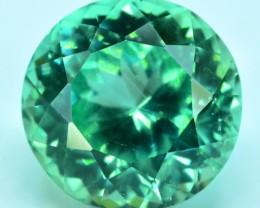 No Reserve  - 12.50 cts Round Cut Lush Green Spodumene Gemstone From Afghan