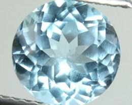 2.51 Cts Natural Blue Topaz 8 mm Round Brazil Gem