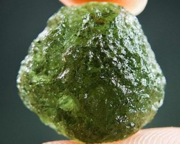 Natural Raw Moldavite - Boulder shape with Bottle green color