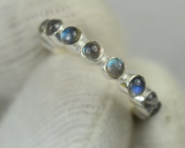 NATURAL UNTREATED LABRADORITE RING 925 STERLING SILVER JE510